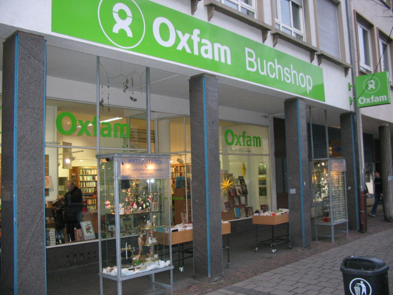 Oxfam Buchshop in Darmstadt