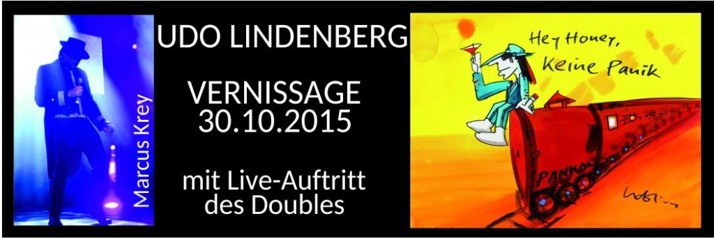 Einladung zur Vernissage mit Bildern von Udo Lindenberg